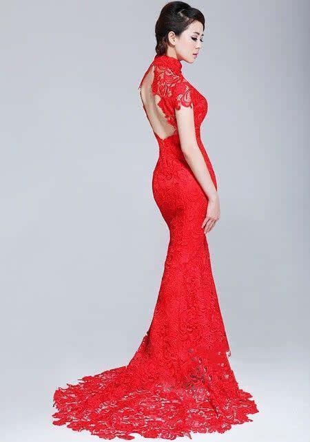 穿着红色旗袍的女人才是最美的