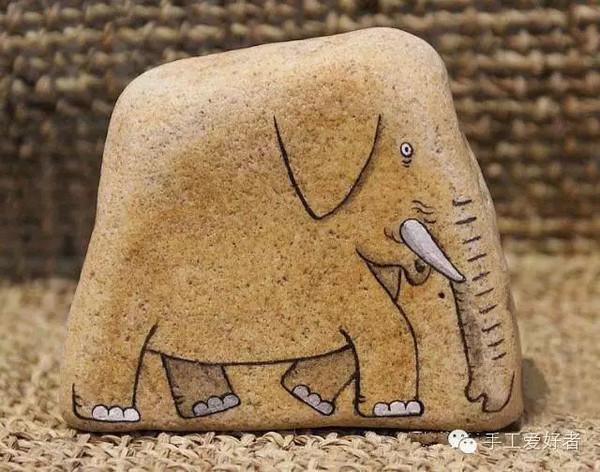 创意无限的石头画 美翻了