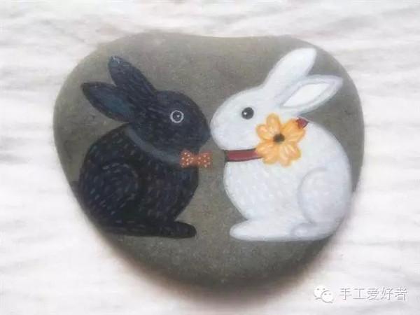 创意无限的石头画 美翻了图片