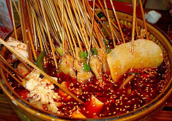 """""""尚滋味"""",""""好辛香""""锦里,被誉为成都版清明上河图,在著名的锦里小吃一图片"""