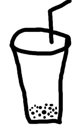 矢量图手绘奶茶