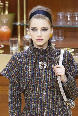 Chanel 2015秋冬巴黎时装周秀场妆容(女孩妆)