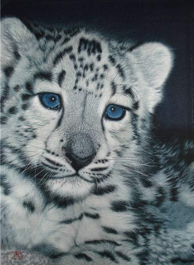 朱寿珍  刺绣作品《豹子》