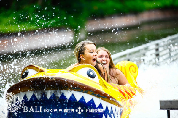 就是规模不大的水上乐园,设有儿童戏水区,滑水道丶喷水设施丶亚马逊河