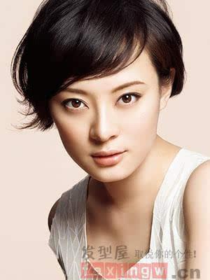 长脸女生适合什么短发型图片图片