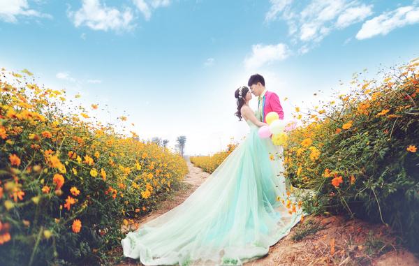 婚纱摄影 根据天气拍出不同的婚纱照