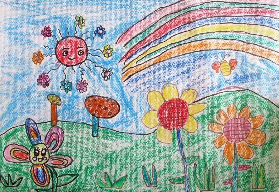小朋友动手画一画春天吧