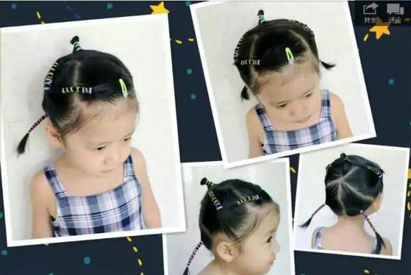 有女儿就这样给她们扎头发,小女神就是这样炼