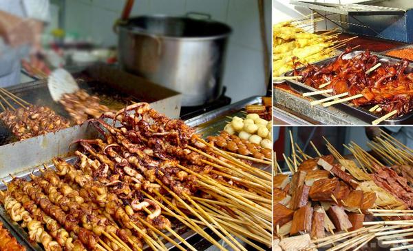 四川锦里古街品味成都小吃图片