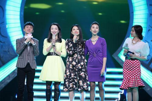 李湘与老友相聚舞台