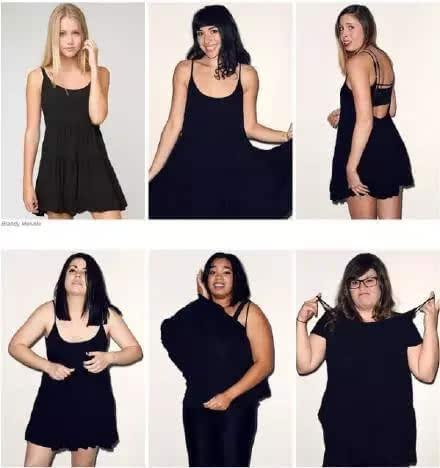 几张图告诉你:同一件衣服胖子与瘦子穿的区别!