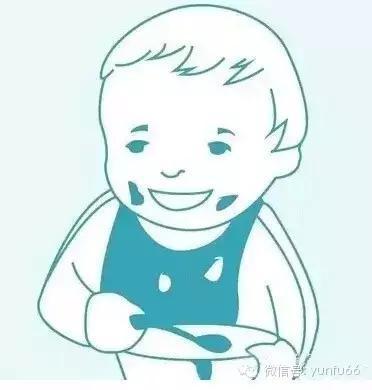 小孩拿勺子吃饭简笔画-宝宝喂养图示指南 不再担心宝宝没吃饱啦