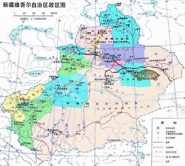 寻找地图上的地理图案