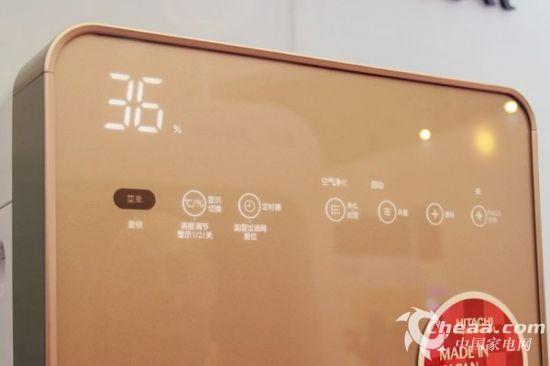 控制面板上的功能相当丰富,加湿、净化、光线调节、定时以及PM2.5独立显示等功能