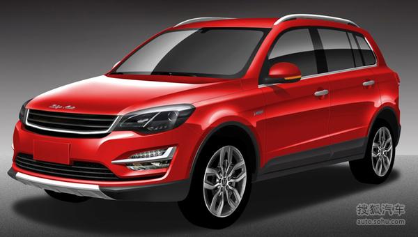 众泰全新紧凑型SUV效果图 上海车展首发高清图片