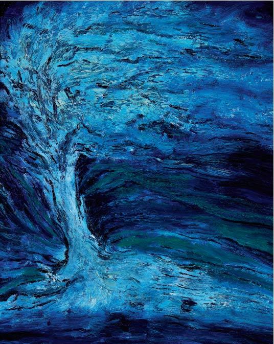 树的印象-布面油画
