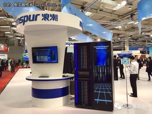 CeBit展会上展示的SmartRack整机柜服务器