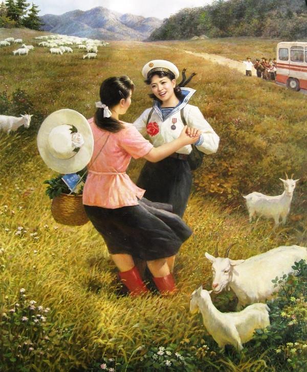 艺术家画笔下的朝鲜美女