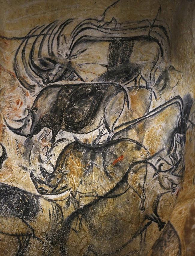 亚洲成人人体洞穴艺术_6万年前史前洞穴壁画复制品曝光 精美绝伦(高清
