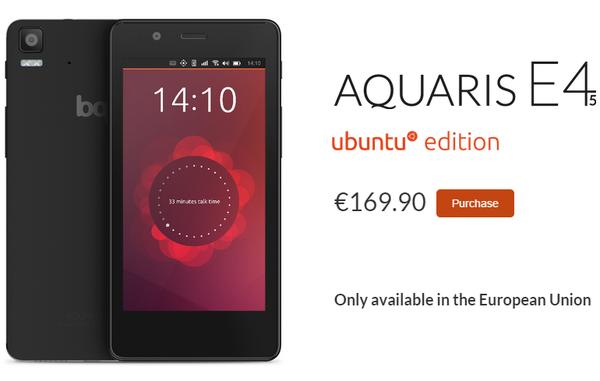 首款Ubuntu手机欧洲上市(图片引自cnbeta)