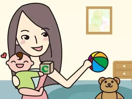 婴儿起床卡通手绘