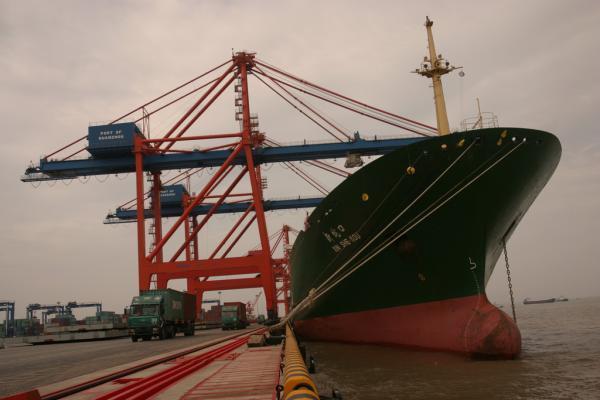 图为福建省泉州市石狮石湖码头。