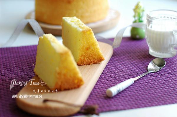 酸奶柠檬戚风蛋糕