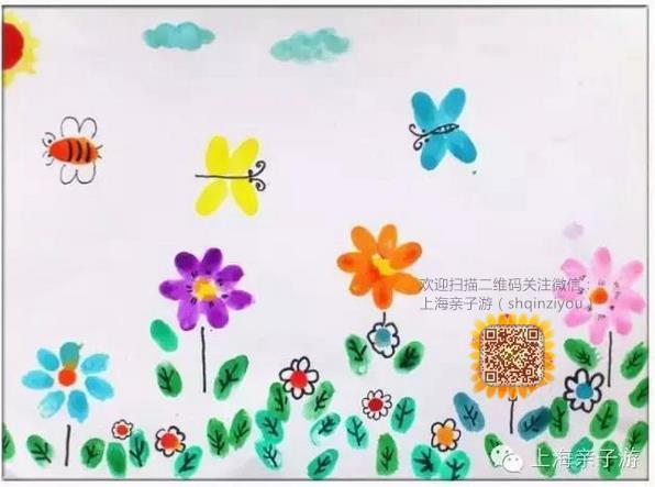 超简单好玩的儿童手印画