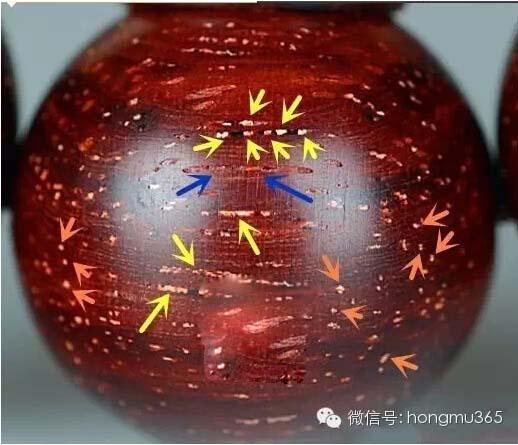 解秘--印度小叶紫檀的真假金星鉴别