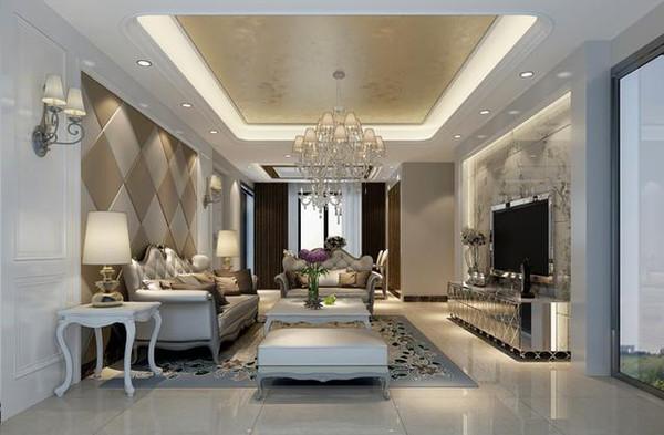 客厅电视背景墙更是运用了大理石让整体视觉更加高端.图片