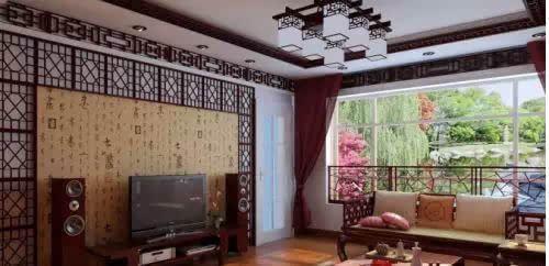 欧式,美式的小客厅电视背景墙图片