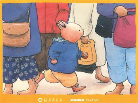 就像故事中,在商场可以找收银台的阿姨,可以找穿制服的叔叔等等.图片