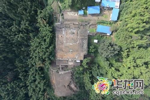 遗迹鸟瞰。 重庆市文明遗产研讨院供图 华龙网发