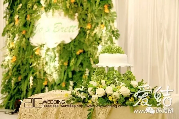 白绿色森系婚礼 小清新之风劲吹