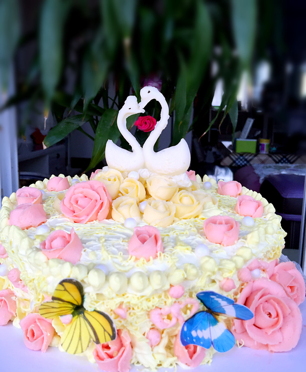 常常发呆一个人静静的想着什么样的蛋糕才算是漂亮,什么样的蛋糕才能