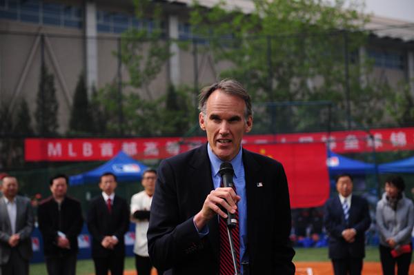 MLB美国职棒大联盟负责亚太事务的副总裁Jim Small在开幕式上致辞