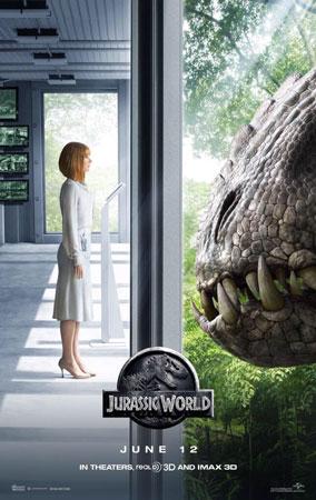 《侏罗纪世界》曝三款新海报 霸王龙凶性毕露