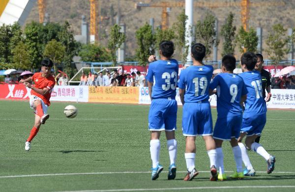 (体育)(2)足球——中国大学生联赛校园组南区赛开幕(图)
