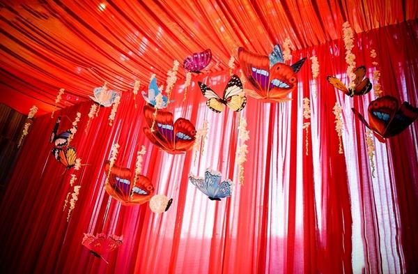 个性的风筝主题婚礼图片