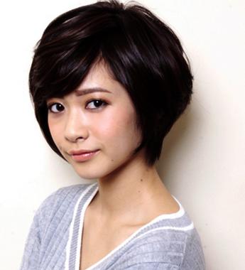 斜刘海短烫v发型脸大发型适合的猫咪英短女生表情动态图片