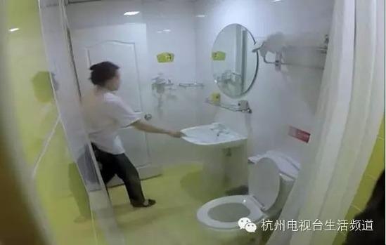 杭州知名酒店用房客浴巾擦马桶擦地板