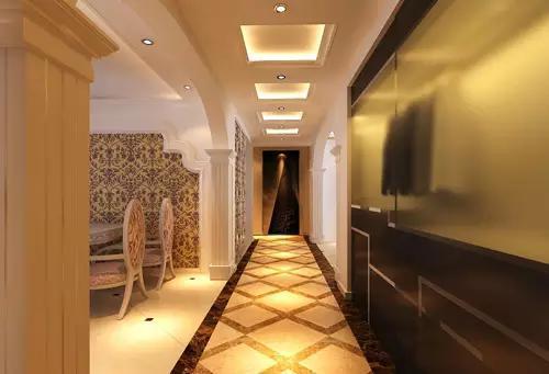 玄关设计效果图:拼接地板走廊设计图片