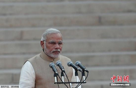 图为印度总理莫迪。