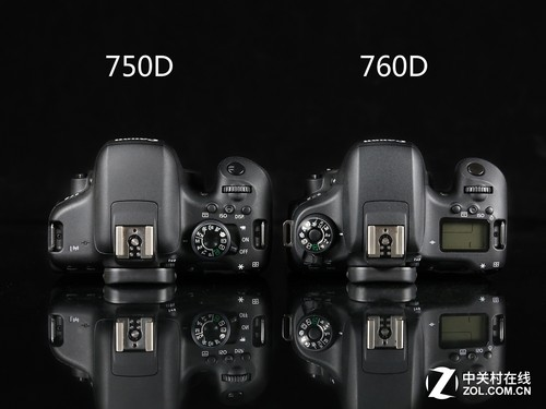 佳能750D与760D顶部设计
