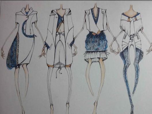 服装展示模特cad手绘