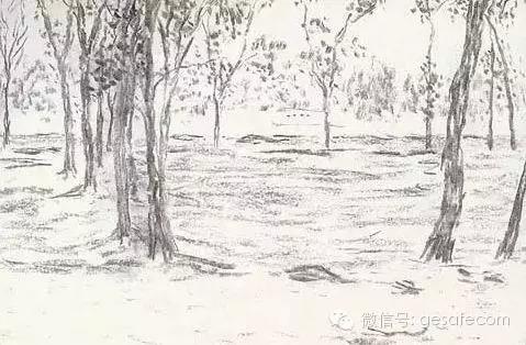 """窦先生写意风格的铅笔画:   ▲""""船行于水,篙入波出"""""""