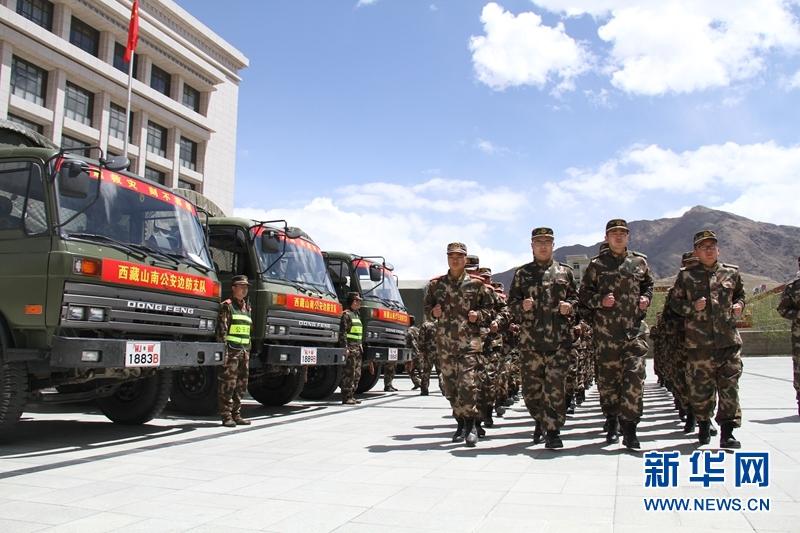 西藏武警机动部队_驰援!向着中尼边境——西藏山南边防支队抗震救灾增援队开赴 ...