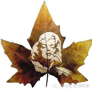 树叶上的剪纸艺术,美到心碎