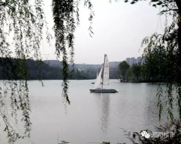 一湾湖水,杨柳依依,白帆轻扬,这一幅图画,让人不知身处何处,此时何时!