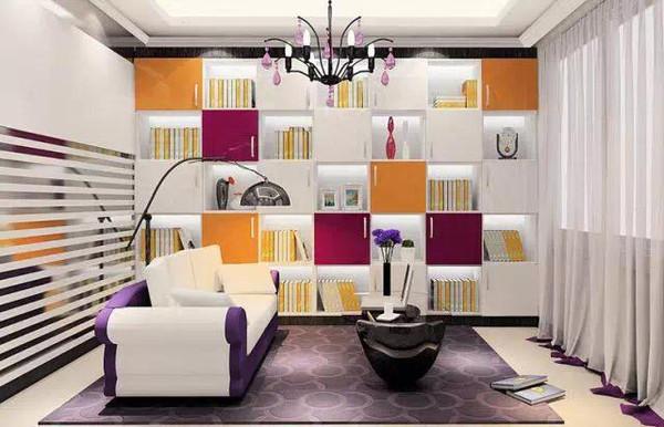客厅和书房的结合,你会喜欢的